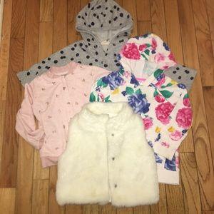 Toddler Girls Jacket/Vest Bundle Size 2T
